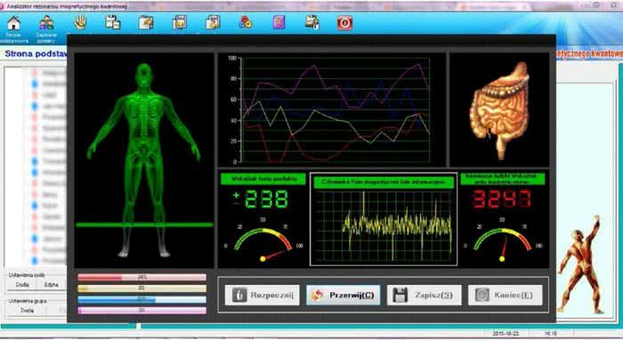 Analiza ciała za pomocą kwantowego rezonansu magnetycznego